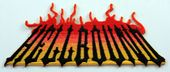 Hellbound - 'Flames' Embroidered Patch